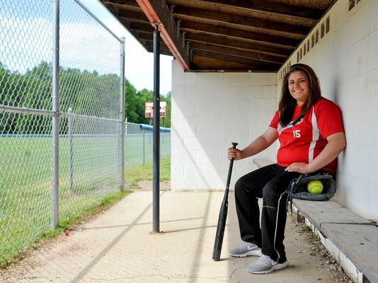 Ridgedale softball Hannah Ferguson Fahey Bank Athlete of the Month
