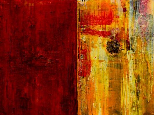 "Bob Nugent, ""Jardim Inhotim #11,"" 2017, oil on canvas, 36x48""."