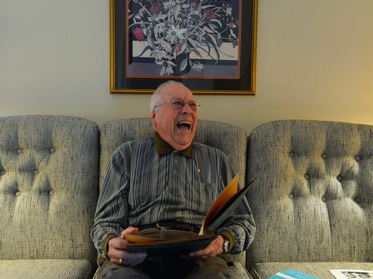 Don Peterson, 92, was a member of the first West York High School county championship boys' basketball team in 1942-43. Monday, December 11, 2017. John A. Pavoncello photo