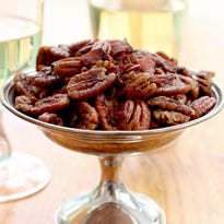 Put out some spiced bacon pecans for your Oscar party.