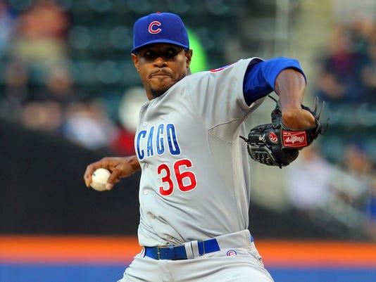 USP MLB: CHICAGO CUBS AT NEW YORK METS S BBN USA NY