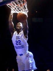Forward JaCorey Williams (22), a former Arkansas standout,