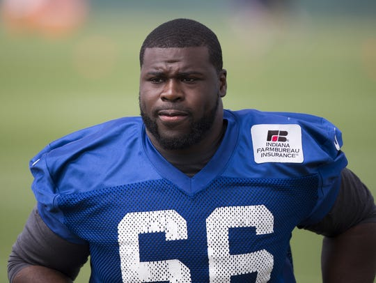 Donald Thomas during Colts organized team activities