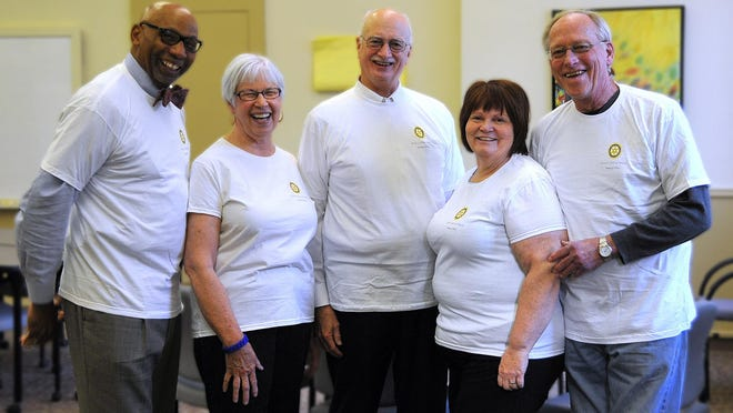 James Brown, Janet Steiner, Brian Wilbur, Jean McPheeters and Jim Johnston will make up the leadership team for the Rotary Club of Ithaca for the 2015-16 year.
