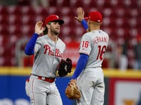 Bryce Harper drives in 100th run, Phillies beat Reds 6-2