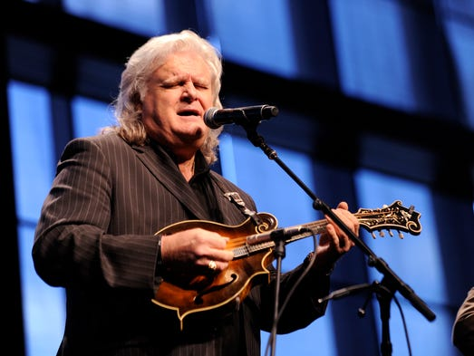 Ricky Skaggs performs during the grand opening of the expansion of the Country Music Hall of Fame and Museum on April 15, 2014. The celebration was held in the new Event Hall.