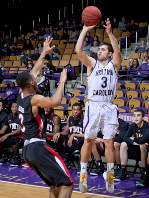 Rhett Harrelson scored 22 points in Western Carolina's win against UNC Greensboro.