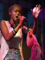 Delaware's Nadjah Nicole performs on the main stage