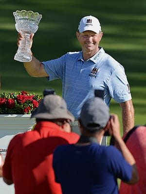 Retief Goosen will be back at Firestone Country Club to defend his title in the Bridgestone Senior Players Championship.