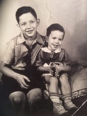 Larry Sanders poses for a photographer with his younger brother, Bernie, in this undated image provided by Larry Sanders.
