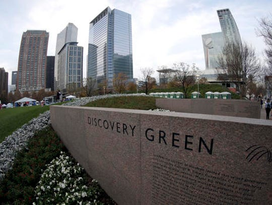 This Jan. 14, 2017 photo shows Discovery Green park