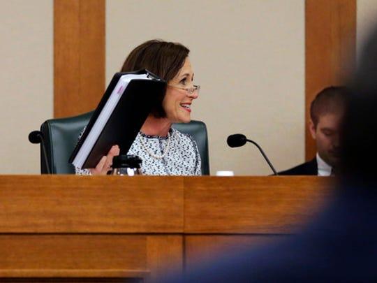 Sen. Lois Kolkhorst, R-Brenham, speaks as the Senate