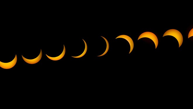 This time-lapse shows the stages of Monday's solar eclipse as viewed in Redding, which got nearly 90 percent of totality.