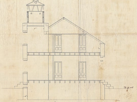 Steve Krueger recently obtained the blueprints to the long-gone Menasha lighthouse through the National Archives