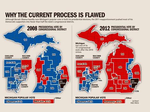 Want To Change Michigan Here39s How. 31 simple Detroit Congressional Districts Map   swimnova com