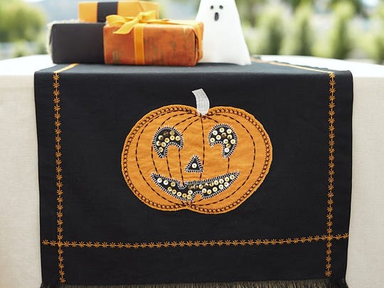 Pumpkin table runner.