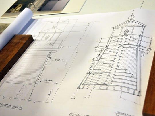 Blueprints show the lights measurements and details.