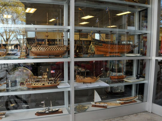 Ted Dress has been building meticulously detailed wooden boats and ships for the last  30 years. His works are on display at the Ida Rupp Public Library in Port Clinton through October.
