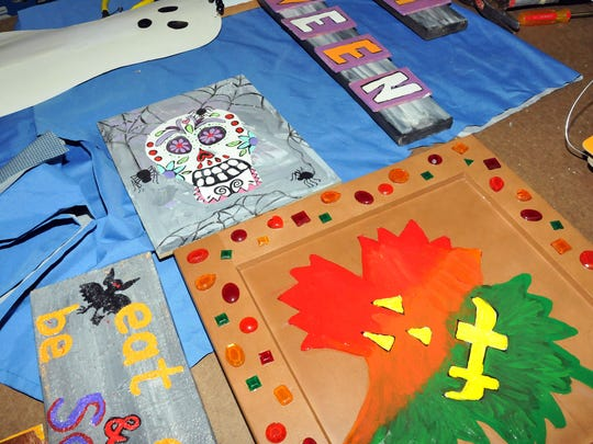 """The artists and artisans at """"Imagine Art"""" have been working on fall and Halloween themed pieces lately."""