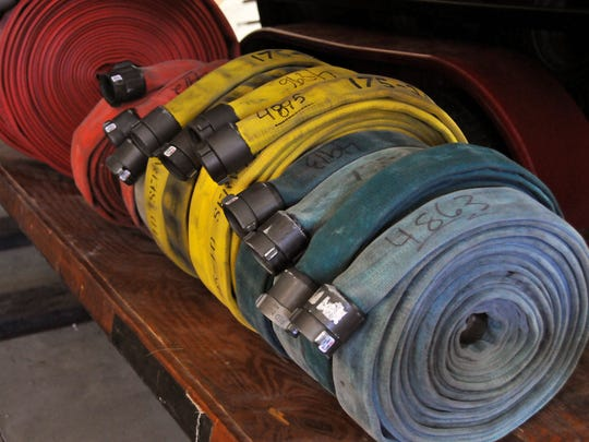 The Port Clinton Fire Department as well as all departments are required to test all of their hoses annually, a costly and time-consuming process.