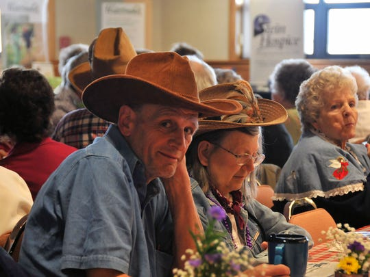"""Nearly 300 Ottawa County seniors attended the """"Wild, wild West"""" Senior Day  luncheon at Camp Perry on Wednesday May 11, 2016."""