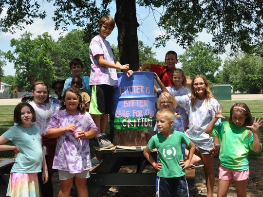 Camps have a weekly theme that encourages youngsters to identify and solve community problems.