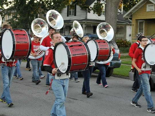 Port Clinton High School 2014 Homecoming Parade and Powderpuff football game - Wednesday October 8