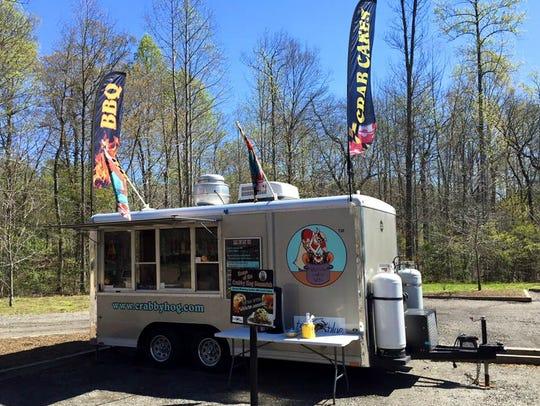 The Crabby Hog food trailer.