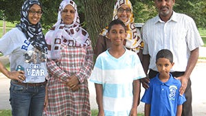 Amar Hamad and Muna Abdalla and their family are the partner family for the Iowa Valley Habitat for Humanity Mary Palmberg Women Build home. Habitat will build a home for them beginning in August.
