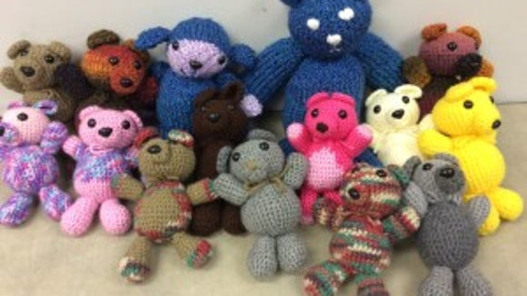 Joan Eisemann of the Gannett New Jersey circulation department was the first to send in her bears. And she made a lot!