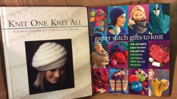 """""""Knit one, knit all"""" and """"Garter stitch gifts to knit"""";"""