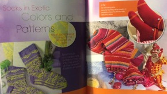 This book has both knitted and crocheted socks.