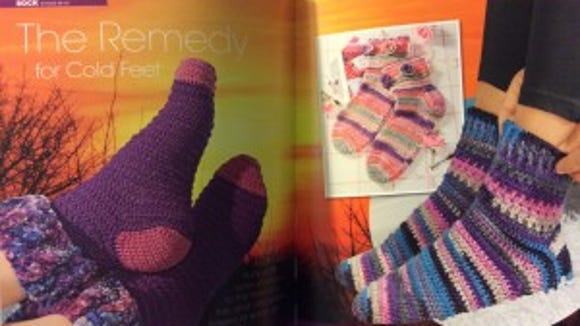 Many of the socks in this book are very colorful.