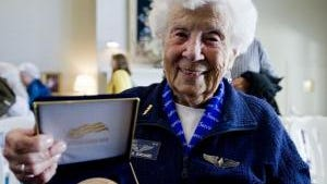Mary Reineberg with her Congressional Medal - SUBMITTED