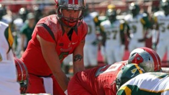 Rutgers quarterback Chris Laviano played most of the second half against Norfolk State.(Photo: Kathy Johnson/Staff Photographer)