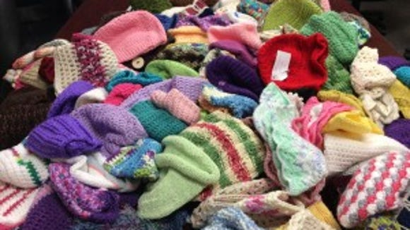 These hats all will go to JFK Medical Center on Monday.