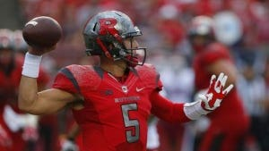 Rutgers quarterback Chris Laviano went 23-of-29 for 204 yards with a touchdown, an interception and a lost fumble.(Photo: Noah K. Murray-USA TODAY Sports)