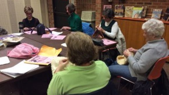 I regularly lead open knitting sessions at the Bridgewater, shown here, Warren and North Brunswick libraries. Come if you can. We would love to have you.
