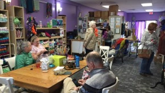 There's a Sunday afternoon knitting group at Knit a Bit in Fanwood.