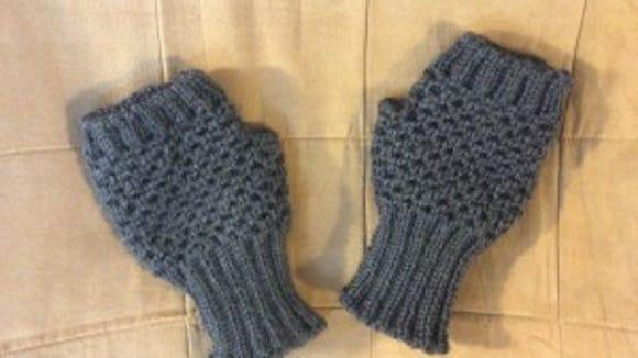 I hope Mrs. T. likes her new fingerless mitts.