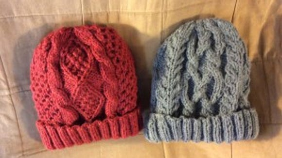 Here are the two hats I finished in the last 24 hours. Making hats is easier than writing patterns.