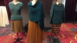 These are some of the sweaters from the pages of Vogue Knitting magazine that are on display at Vogue Knitting Live.