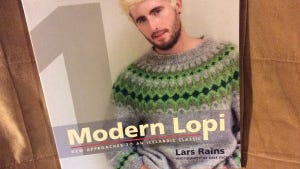 """Modern Lopi""; is a great book for people who enjoy stranded ""Fair Isle"" knitting."
