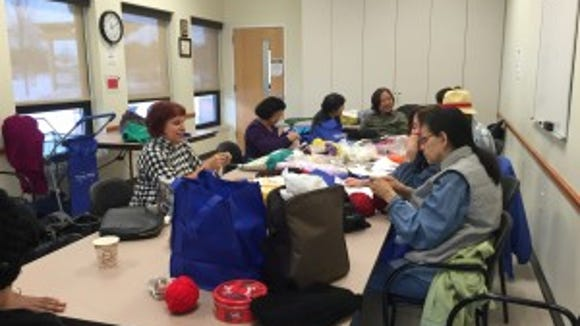 The knitting group at the Piscataway Senior Center meets 10 to 11:30 a.m. every Monday.