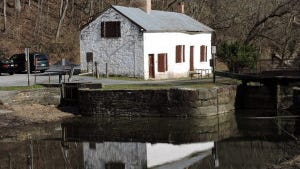 A Gatehouse of the Chesapeake & Ohio Canal, National Historic Park, Potomac, MD