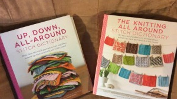 """Wendy Bernard's new """"The Knitting All Around Stitch Dictionary,"""" on the right, is a sequel to her """"Up, Down, All-Around Stitch Dictionary""""  (on the right), published in 2014."""