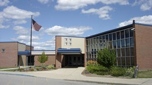 Haslett High School is shown. The school district is looking to replace Superintendent Mike Duda, who is retiring in June.