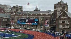 Franklin Field, the oldest stadium in continuous operation. (Photo by Jane Havsy/Daily Record)