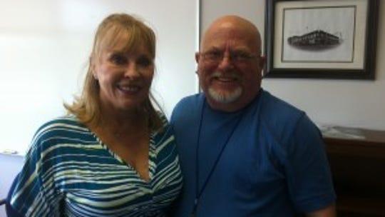 Jan Stephenson and sports editor Randy Beard