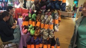 This is more yarn from Angoraonline.com. I believe it's all mill-spun.